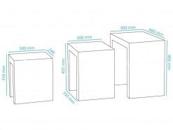 Trio - Tables gigognes blanc laqué