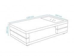 Carolina - Table basse 060 x 120 cm