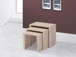 Trio - Tables gigognes chêne sonoma