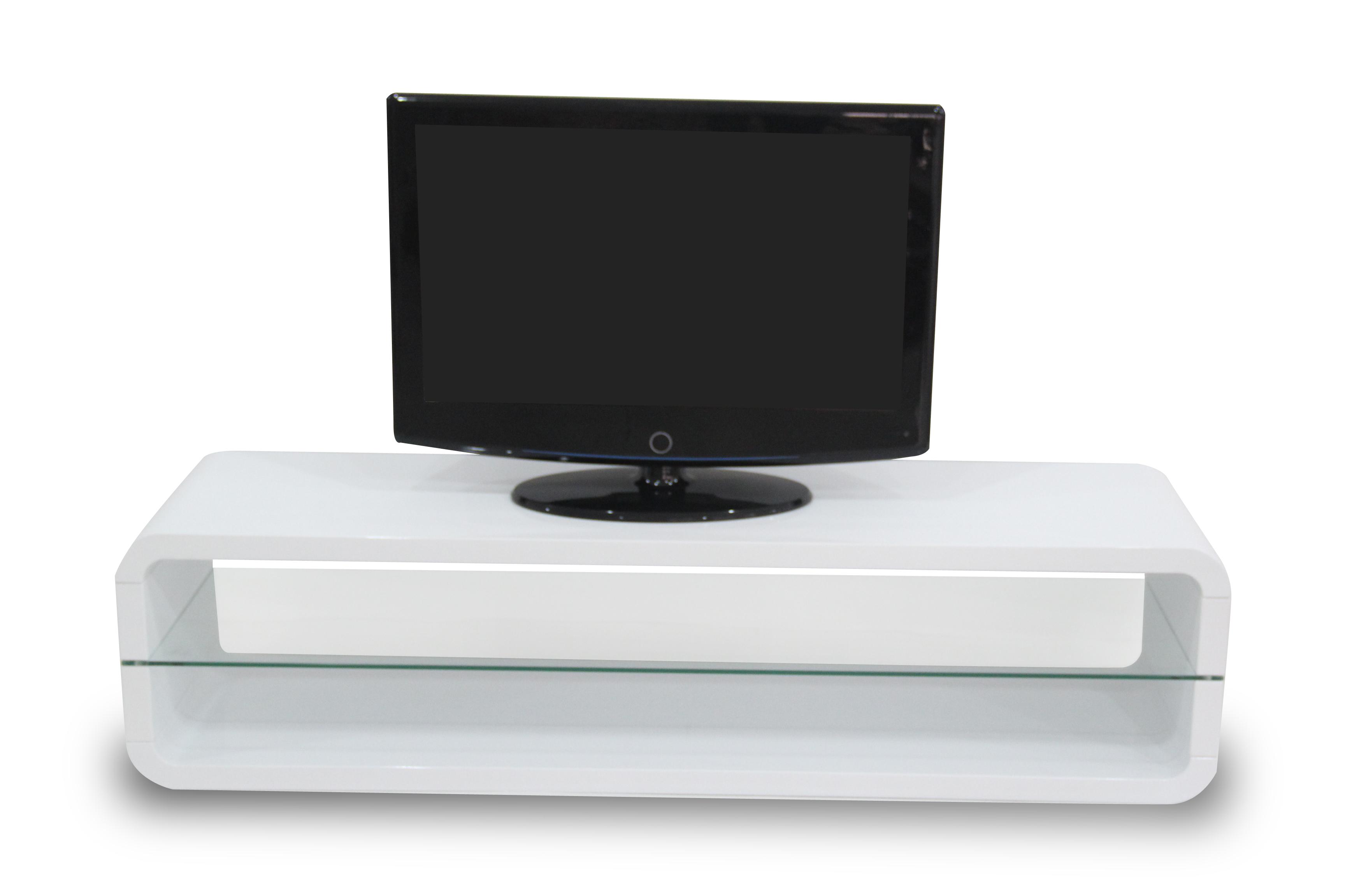 R 2100 Meuble Tv Lcd 140 Cm Blanc Laqu Modiva # Meuble Laque Blanc Tv