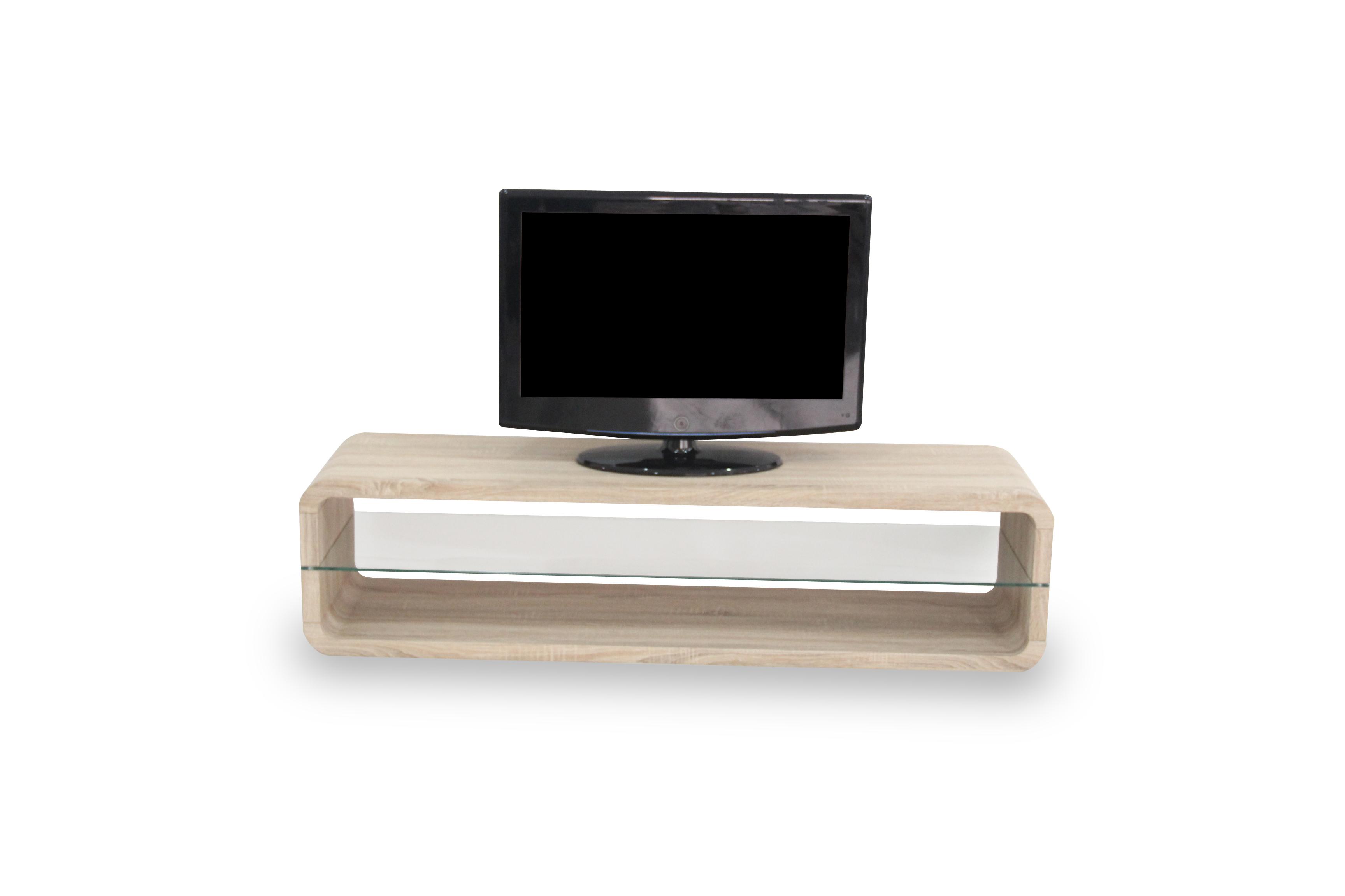 R 2100 Meuble Tv Lcd 140 Cm Ch Ne Sonoma Modiva # Meuble Tv En Verre