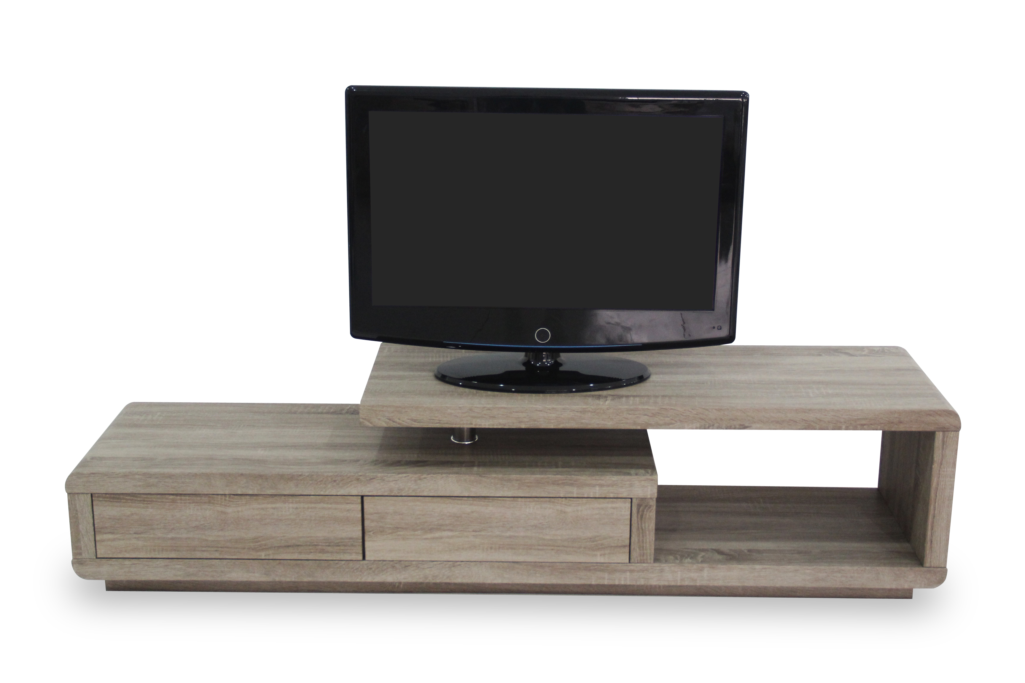 R 2110 Meuble Tv Lcd 180 Cm Ch Ne Sonoma Fonc Modiva # Meuble Tv Chene Sonoma