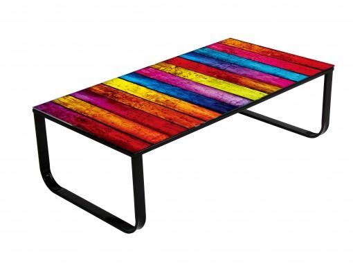 Illusion – Table basse design Rainbow