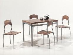 PRIMA - TABLE + 4 CHAISES COLORIS SONOMA