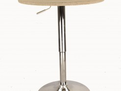 ACAPULCO - TABLE DE BAR REGLABLE EN HAUTEUR DECOR BEIGE