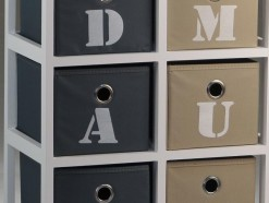 D&M - MEUBLE D'APPOINT AVEC 6 TIROIRS EN BLANC