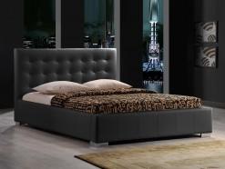 Karl - Lit design 160 x 200 cm en éco-cuir noir