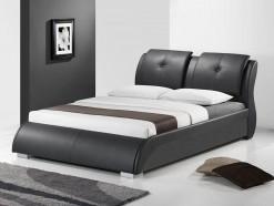 Caprice - Lit design 160 x 200 cm en éco-cuir noir