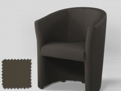 CLUB - FAUTEUIL EN ECO-CUIR TAUPE