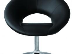 Vazo - Tabouret en éco-cuir noir