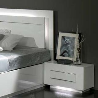 Bianca – Chambre à coucher complète blanc laqué | MODIVA