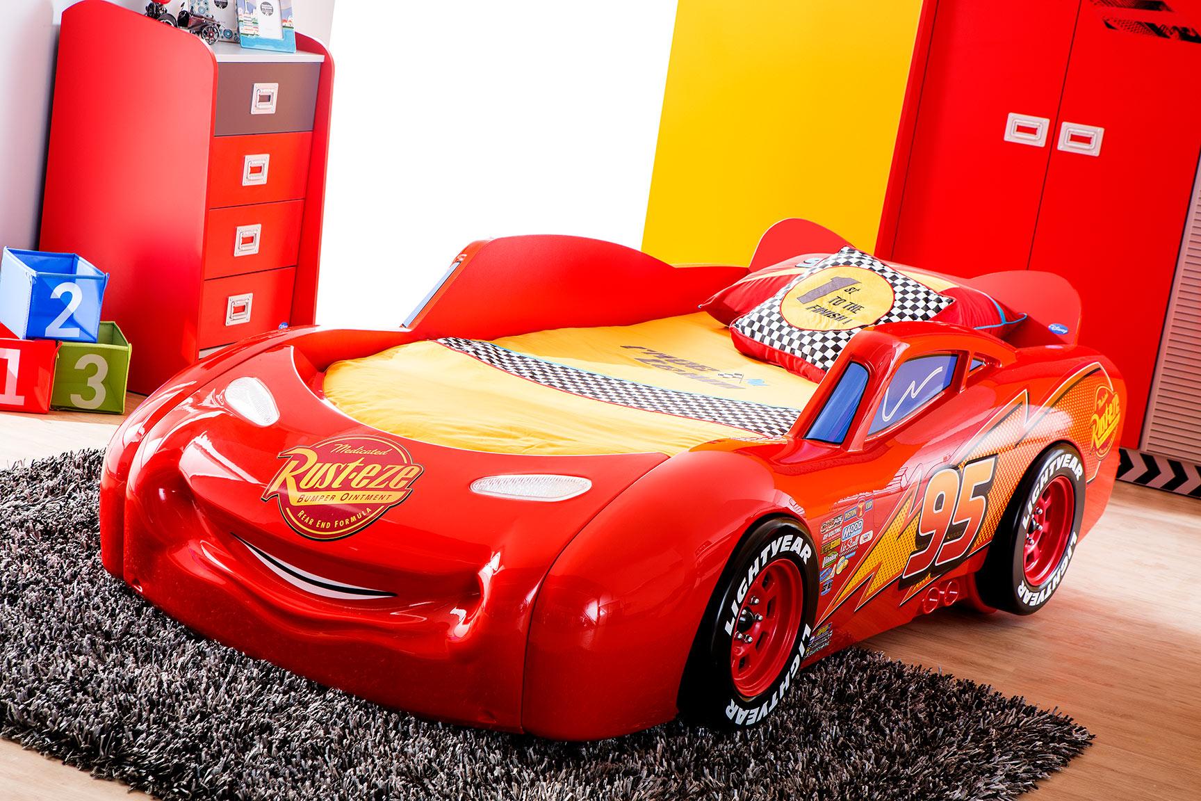 Piston Cup – Lit voiture 090 x 190 cm design Disney Cars