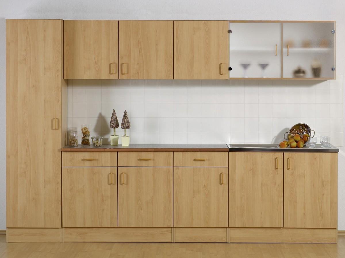 Kitchen – Armoire murale 100 CM vitrée – Hêtre