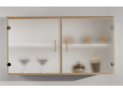 Kitchen - Armoire murale 100 CM vitrée - Hêtre