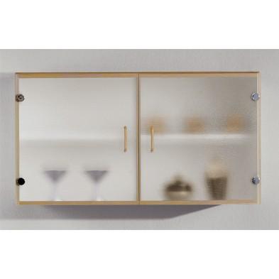 Kitchen Armoire Murale 100 Cm Vitree Hetre Modiva