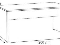 Thalès - Bureau 200 cm