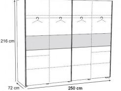 STAR - ARMOIRE 250 CM COLORIS CHÊNE BERGERAC