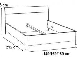 Ulysse - Lit 140 x 200 cm  / 160 x 200 cm / 180 x 200 cm