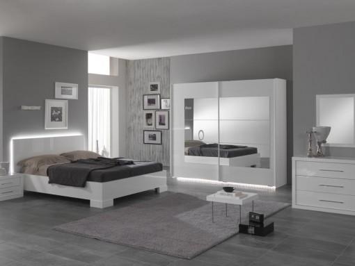 angelo chambre a coucher ultra design en blanc laque - Chambre A Coucher Blanc Laque