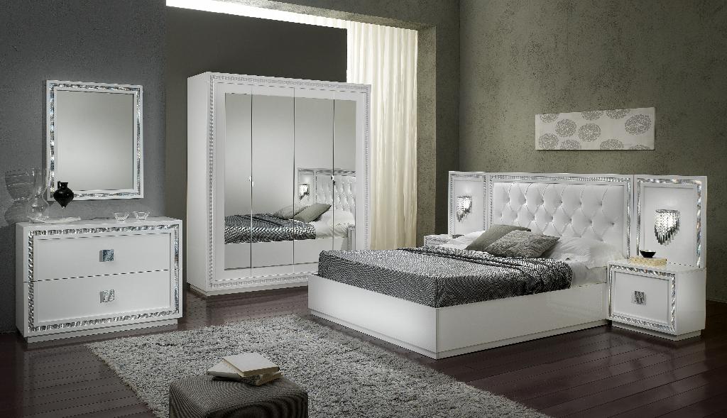 Christina – Chambre à coucher complète coloris blanc | MODIVA