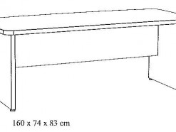 MAESTRO - SCHEMA BUREAU 160 CM