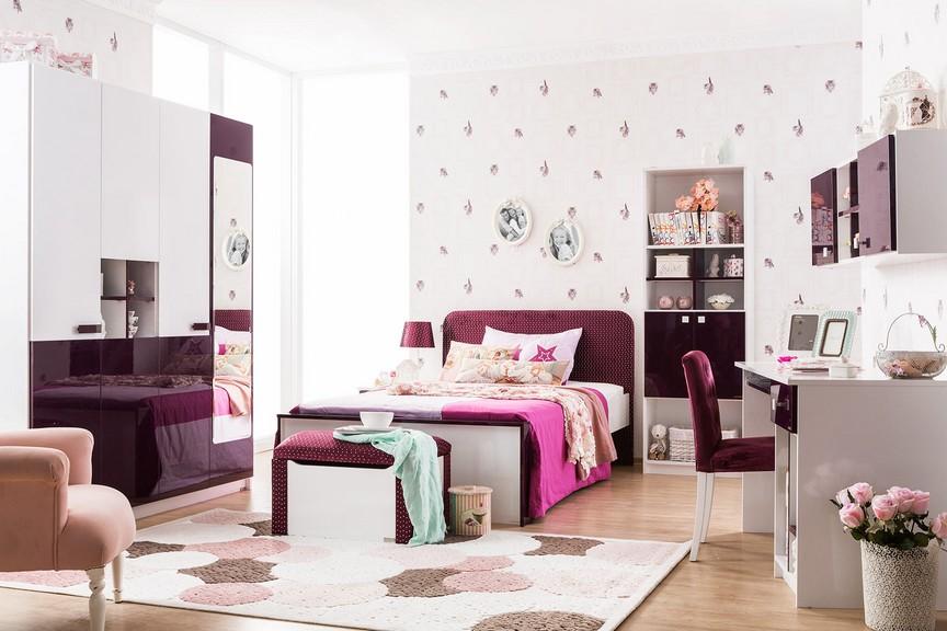 Chambre A Coucher Complete Coloris Blanc : Violetta chambre jeune complète ii modiva