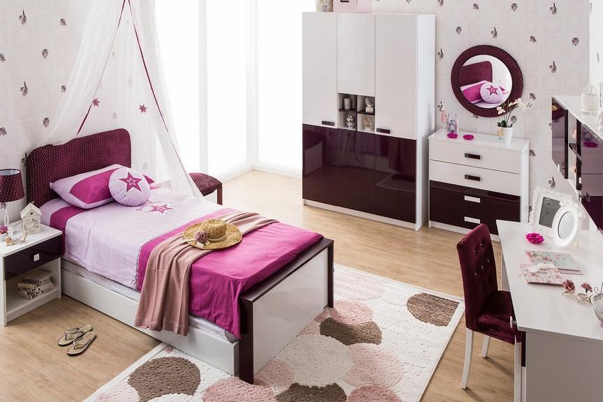 Chambre A Coucher Complete Coloris Blanc : Violetta chambre jeune complète i modiva