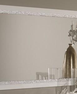 AMOR CROMO - MIROIR SALLE A MANGER BLANC LAQUE