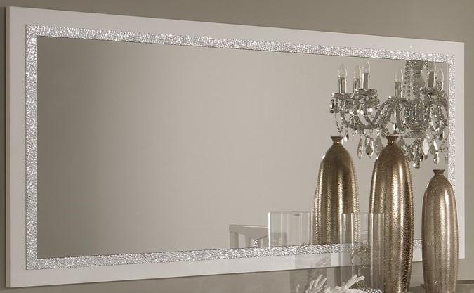 Amor Cromo - Miroir 140 cm salle à manger coloris blanc brillant ...