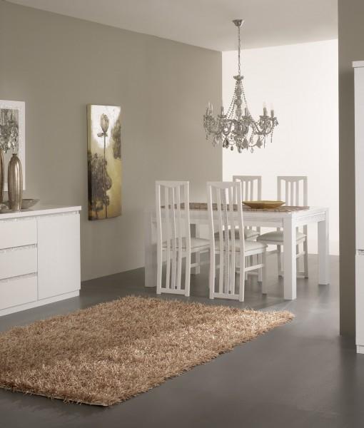 Amor Cromo  Salle  Manger Complte Coloris Blanc Laqu Avec