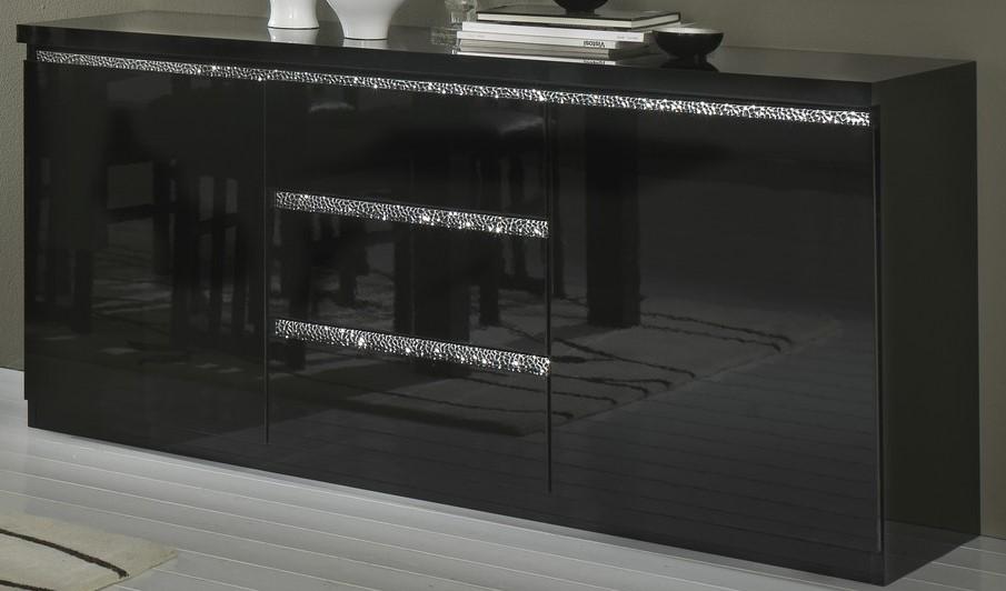 Amor Cromo - Salle à manger complète coloris noir laqué avec ...