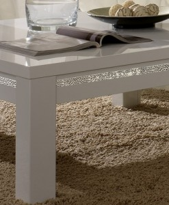 AMOR CROMO - TABLE BASSE BLANC LAQUE