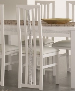 AMOR CROMO - TABLE SALLE A MANGER BLANC LAQUE