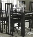 AMOR CROMO - TABLE SALLE A MANGER NOIR LAQUE