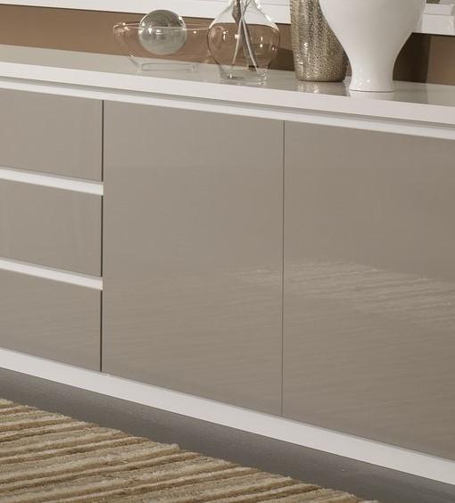 Amor – Dressoir 220 cm coloris blanc & gris laqué