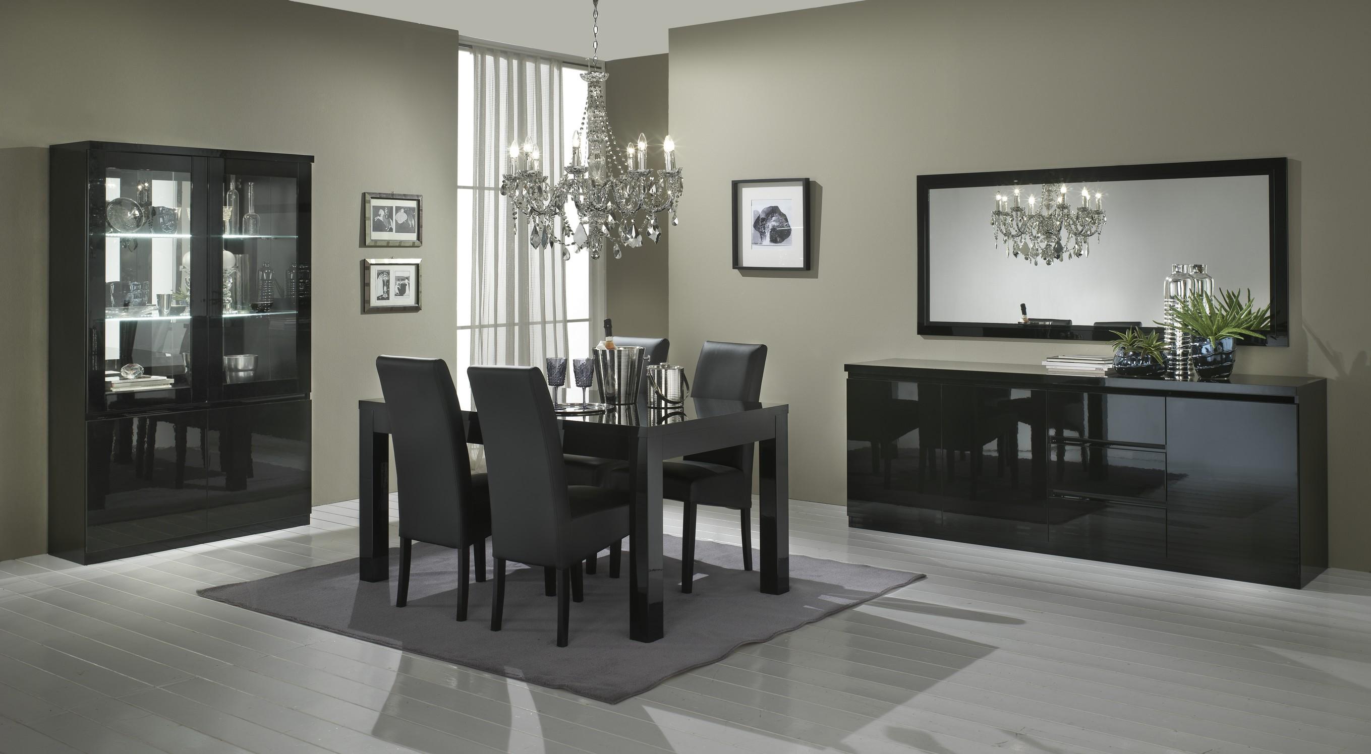 Amor – Salle à manger complète coloris noir laqué