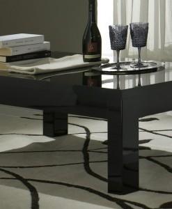 AMOR - TABLE BASSE COLORIS NOIR LAQUE