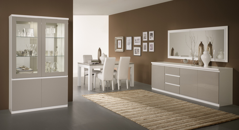 Prestigius - Table salle à manger 190 cm coloris noir laqué avec ...