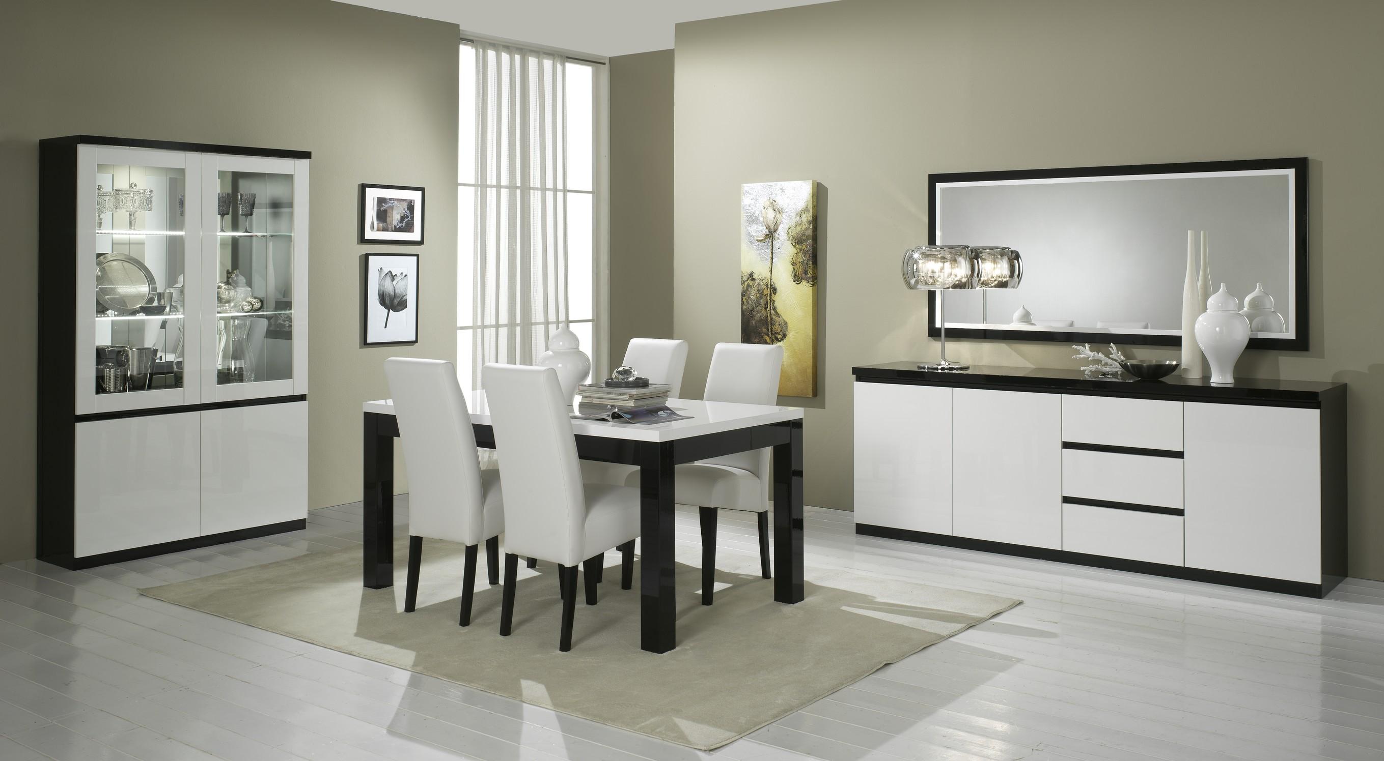 Indogatecom Salle A Manger Complete Blanc Laque But - Table carree blanc laque avec rallonge pour idees de deco de cuisine