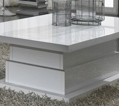 DELUX - TABLE BASSE BLANC LAQUE