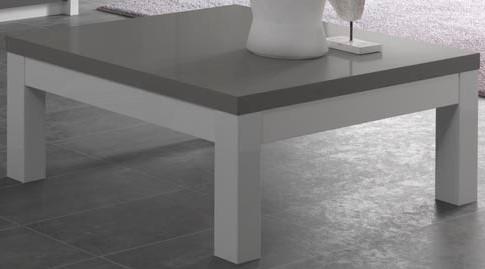 Fanny Table Basse Blanc Et Gris Laque Design Modiva