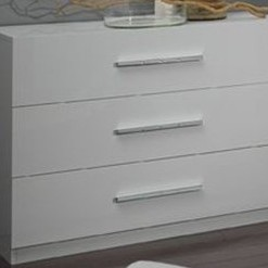 GLORINO - COMMODE COLORIS BLANC LAQUE