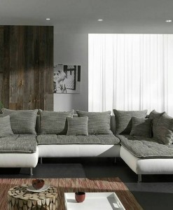PICOLO - SALON ULTRA DESIGN COLORIS BLANC & GRIS