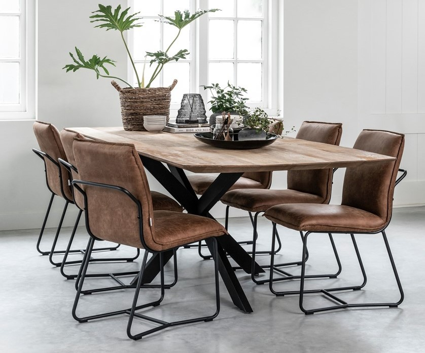new curve dining table